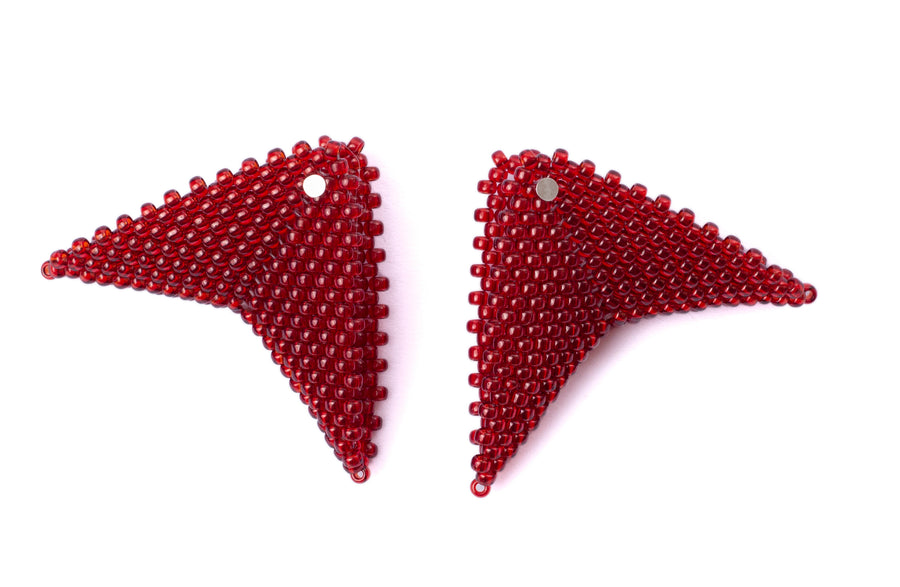 Grace Earrings in Ruby (Classic Collection)
