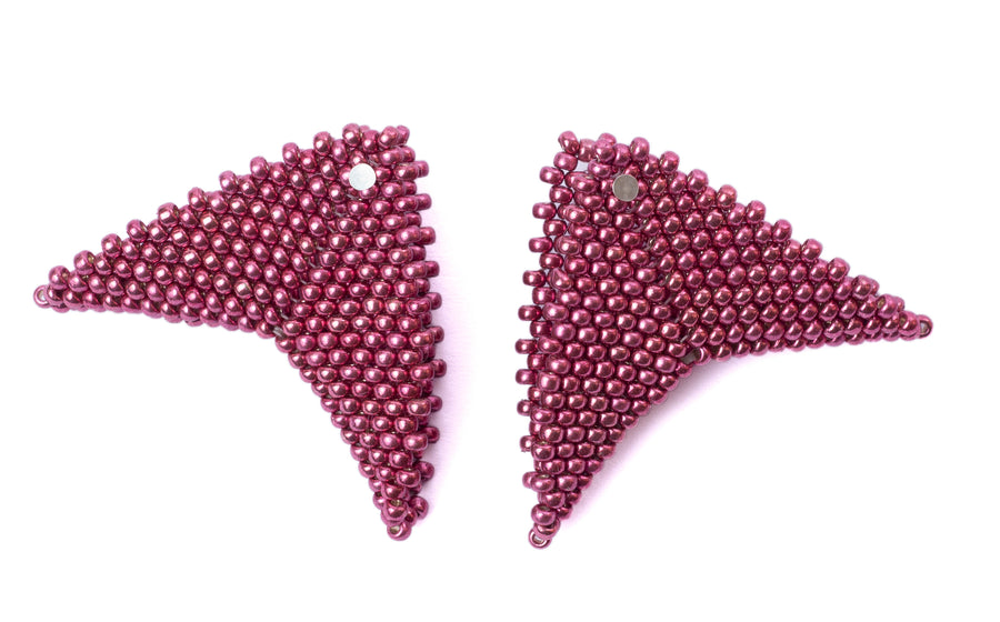 Grace Earrings in Magenta (Classic Collection)