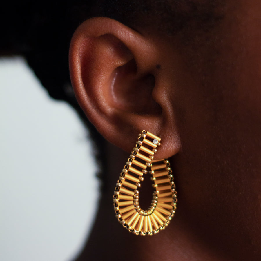 Embrace Earrings in Deepest Gold