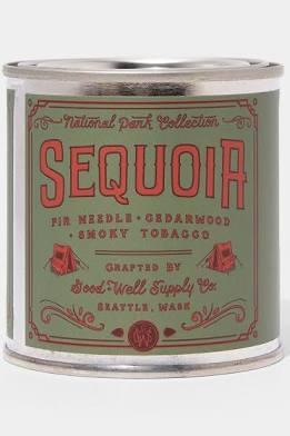 Good and Well Supply- Sequoia Candle- Fir, Cedarwood,Smokey Tobacco