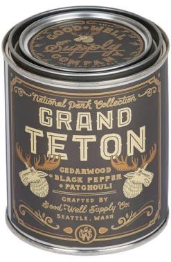 Good and Well Supply- Grand Teton Candle- Cedarwood, Black Pepper, Patchouli