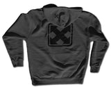 OG MARK LOGO </p> CHARCOAL GRAY ZIP HOODIE