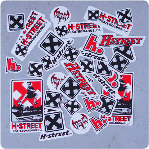 H-STREET 33 </p>STICKER PACK