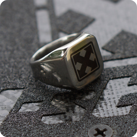 H-STREET MARK LOGO COMMANDO  RING
