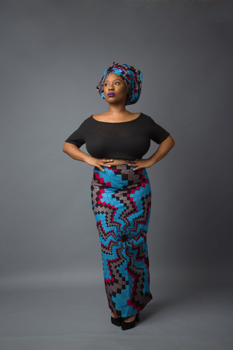 Makena Long Pencil Skirt