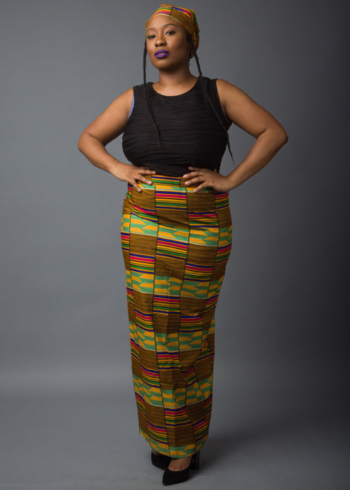 Afryea Long Pencil Skirt