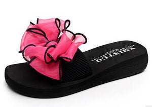 Bow Thong Jelly Flip Flops, 4 Colours