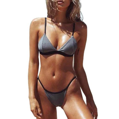 Gray and Black Bikini