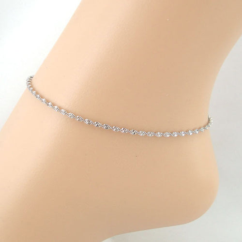 Water Ripple Chain Women Anklet Bracelet Sandal Beach Foot Jewelry