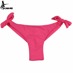 Cheeky Bikini Bottom with Side Ties - 9 Colours