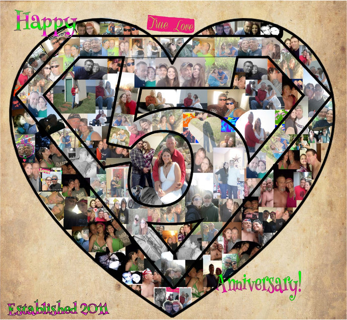 Anniversary or Birthday Collages