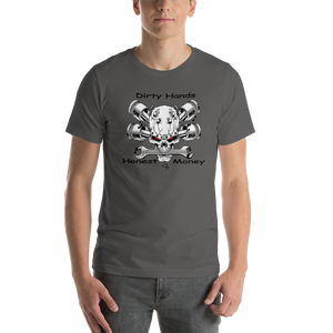 Skull Piston and Wrench's Short-Sleeve Unisex T-Shirt