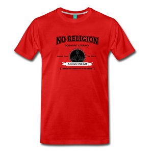 No Religion(Men's Premium T-Shirt) - red
