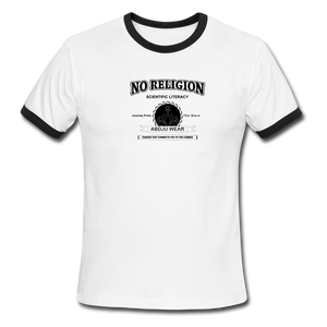 No Religion(Men's Ringer T-Shirt) - white/black