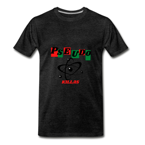 Pseudo Killas(Men's Premium T-Shirt) - charcoal gray