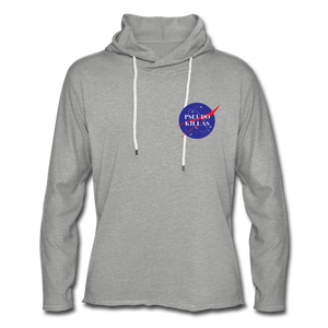 No Psedo(Unisex Lightweight Terry Hoodie) - heather gray
