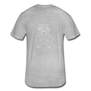 No Religion(Fitted Cotton/Poly T-Shirt by Next Level) - heather gray