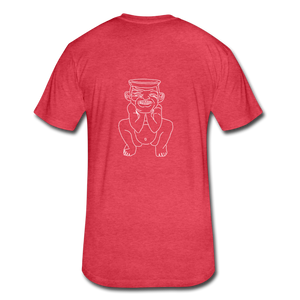 No Religion(Fitted Cotton/Poly T-Shirt by Next Level) - heather red