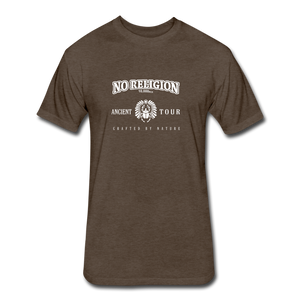 No Religion(Fitted Cotton/Poly T-Shirt by Next Level) - heather espresso