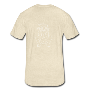 No Religion(Fitted Cotton/Poly T-Shirt by Next Level) - heather cream