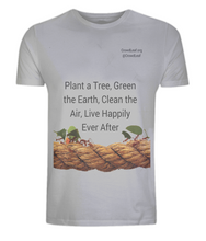 CrowdLeaf Classic Jersey Men's/Unisex T-Shirt Plant a Tree, Green the Earth, Clean the Air, Live Happily Ever After - Black Type