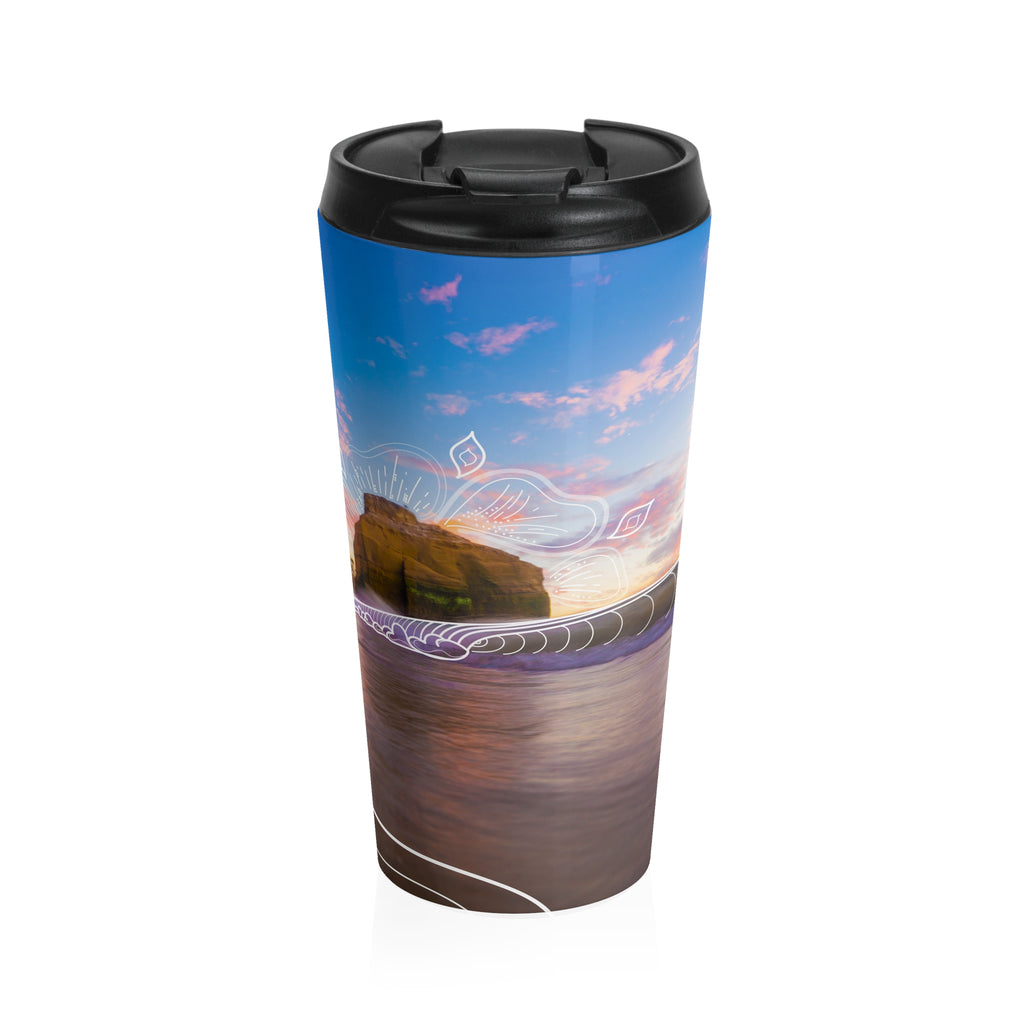 Sunset Grooves Stainless Steel Travel Mug