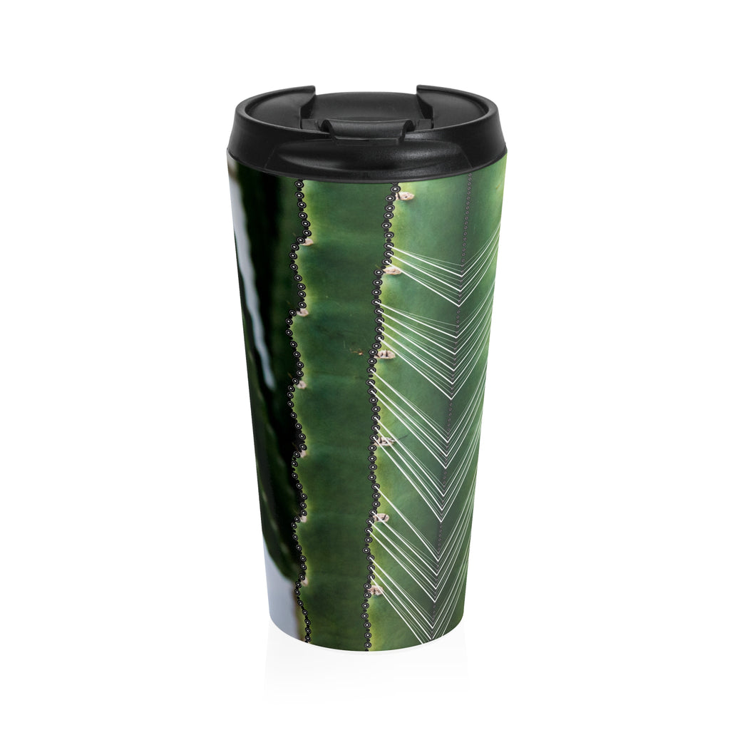 Cactus (White) Stainless Steel Travel Mug