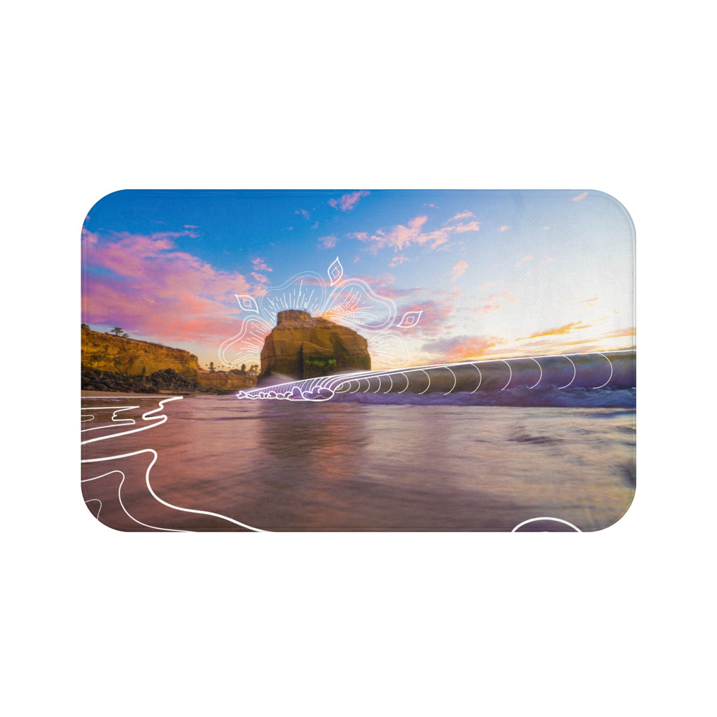 Sunset Grooves Bath Mat