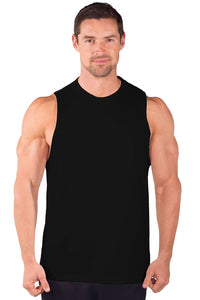 Combed Cotton Cut Sleeve Muscle Tee - 1050