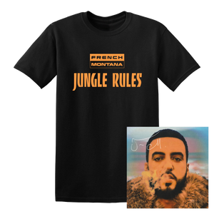 French Montana Jungle Rules Autographed CD + Digital Download + T-Shirt