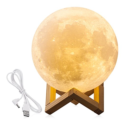 3D Print Moon Night Light (USB Touch LED)