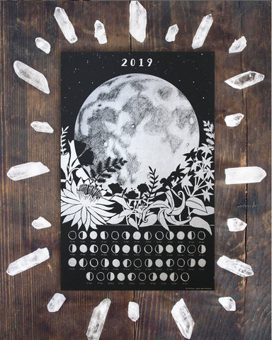 2019 Moon Phases Poster