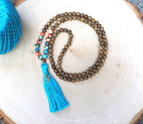 108 Mala Bead Bohemian Tassel Necklace