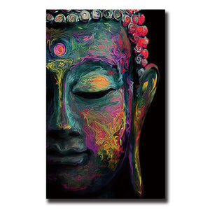 Buddha Canvas Painting Wall Art poster meditation Abstract (Unframed)