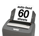 boxis® autoshred® AF60<br>Personal Series<br>60 Sheet Autofeed Microcut Shredder