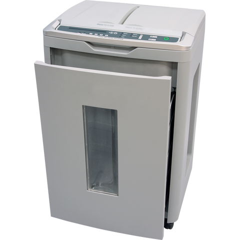 boxis® autoshred® AF350<br>A REVOLUTION IN PRODUCTIVITY™<br>350 Sheet Autofeed Microcut Shredder