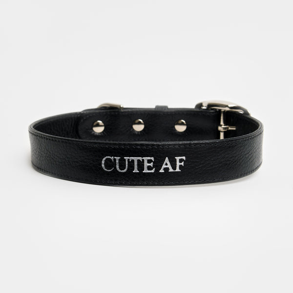 Conversation Collar - Cute AF in Midnight Black