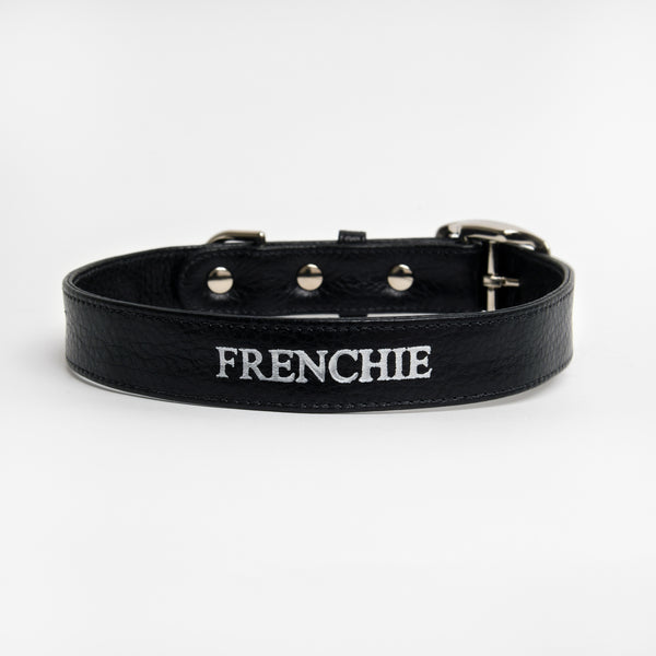 Conversation Collar - Frenchie in Midnight Black