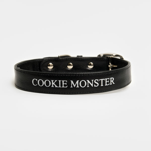 Conversation Collar - Cookie Monster in Midnight Black