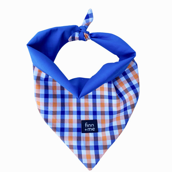 Modi Scarf in Blue Checkered