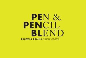 Pen & Pencil Blend, house blend coffee beans, espresso roast