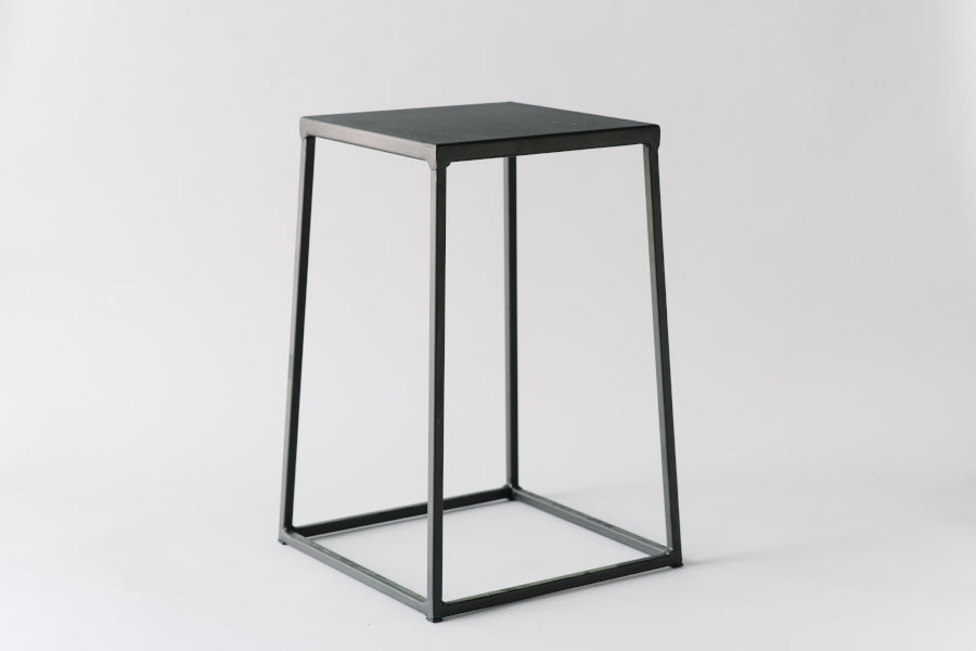 Brawn & Brains Coffee Lifestyle, Black stool, side table