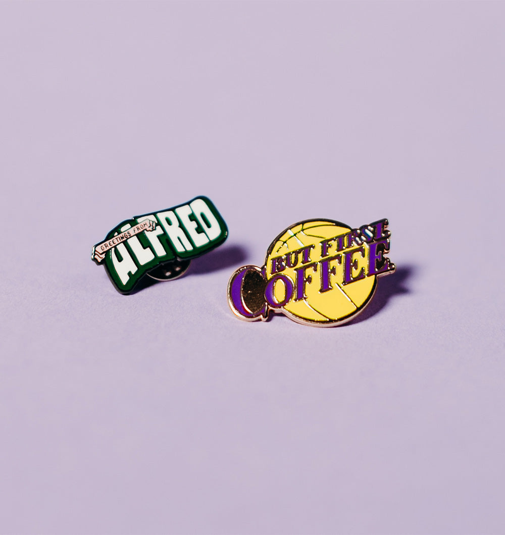 Alfred Coffee Pin