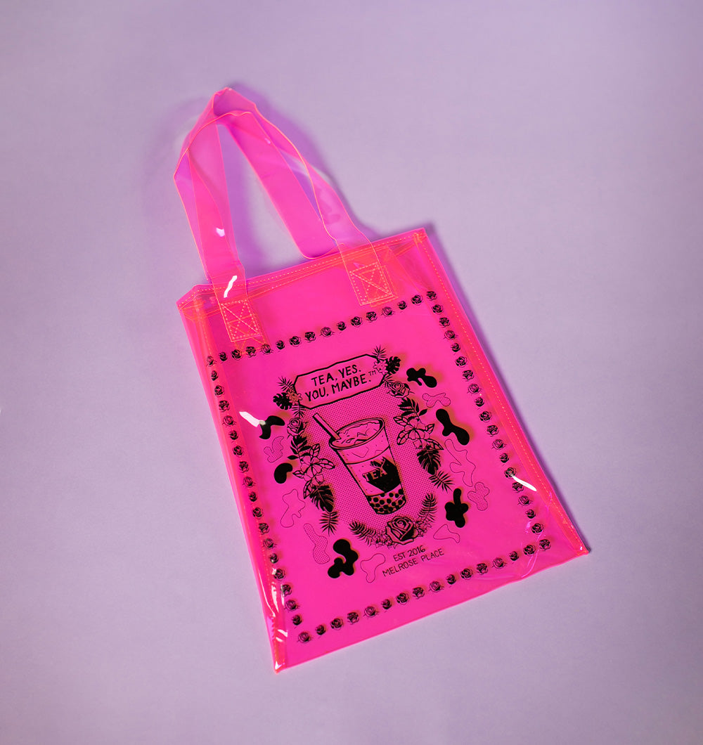 Alfred Tea Neon Pink PVC Tote