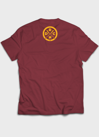 Triple Tee Burgundy Back