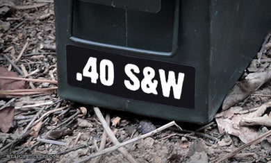 Ammo Label: .40 S&W