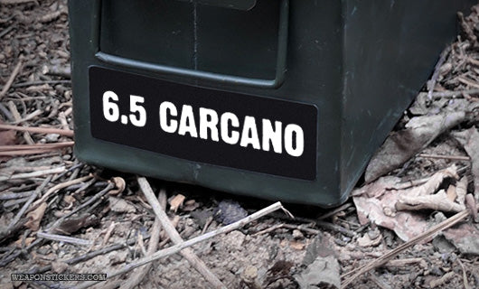 Ammo Label: 6.5 Carcano