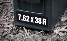 Ammo Label: 7.62x38R