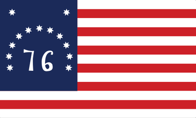 Bennington Flag Sticker<br>(Red, White & Blue)