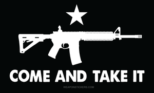 Come and Take It Flag Sticker<br>(Black & White) AR15